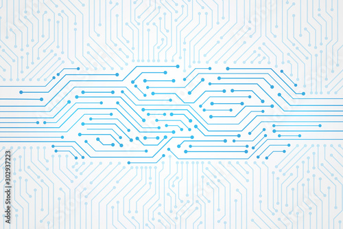 Foto  Abstract Technology Background , blue circuit board pattern