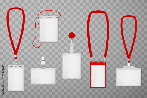 Cuadros en Lienzo Id plastic cards realistic vector illustrations set