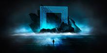 Modern Futuristic Neon Abstrac...