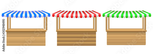 Carta da parati Street stall with awning