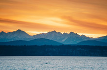 Snowy Olympic Mountains Over P...