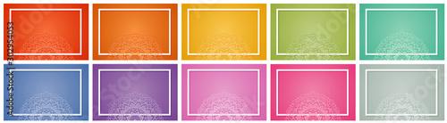 Fotografiet  Background templates with mandala designs