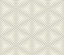 Halftone Linear Hexagon Seamle...