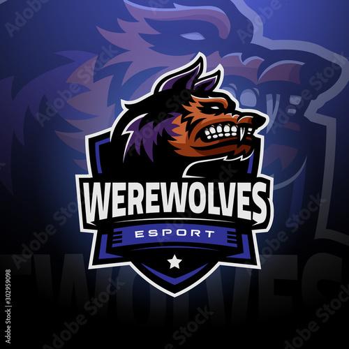 Fotografie, Obraz Werewolves head logo esport