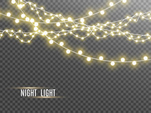 Christmas Lights Isolated On T...