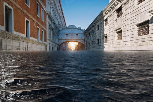 Fotomural  The worst flooding to hit Venice in more than 50 years has brought the historic