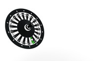 Black And White Roulette Wheel...
