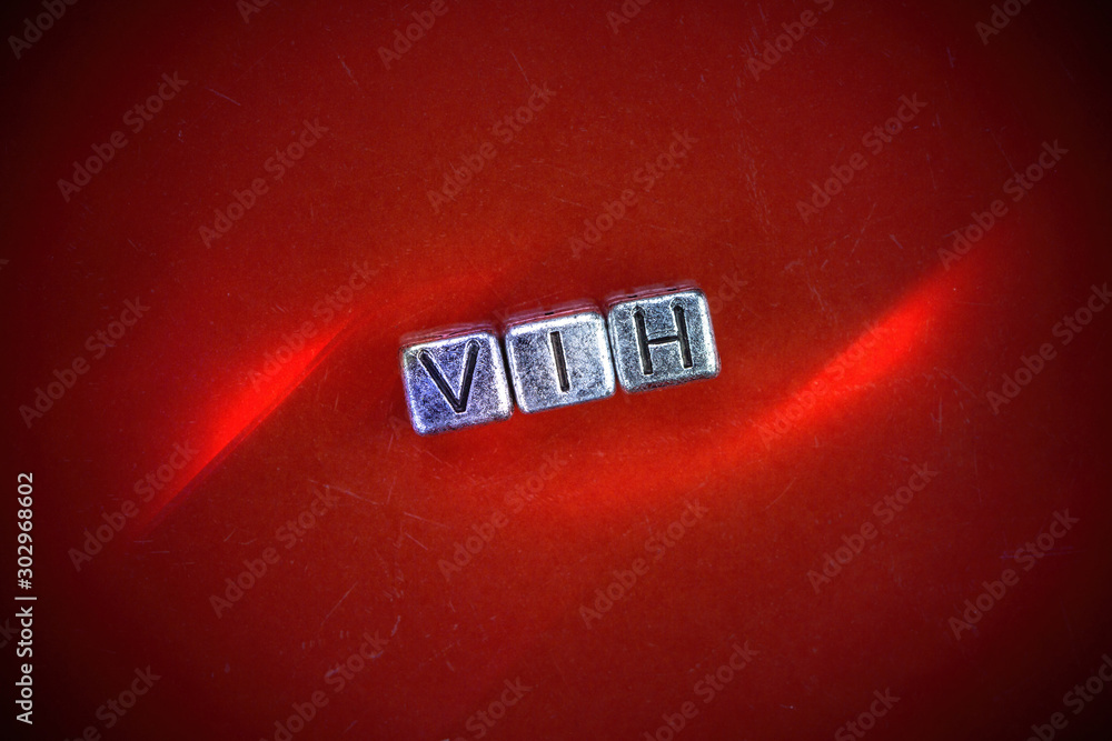 Fototapety, obrazy: VIH disease background concept with cubic metal letters