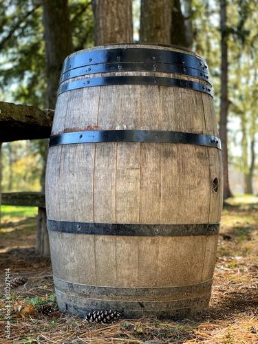 barrel in vineyard