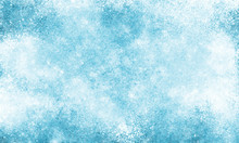 Blue Frost Texture Iced Surface