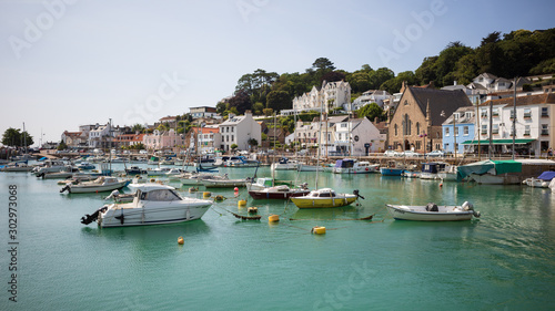 Photographie The former fishing village Saint Aubin in the Channel Island of Jersey