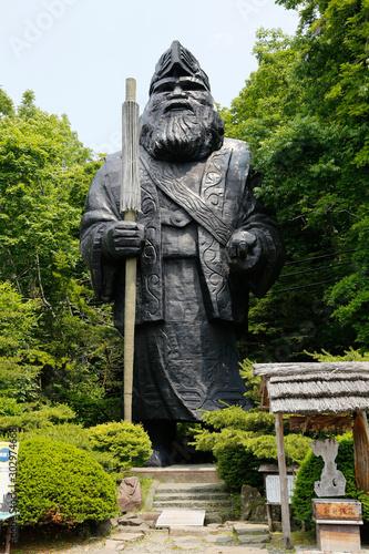 Ainu God Statue, Hokkaido, Japan Canvas Print