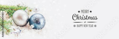 Fotografía  Christmas decorations, New Year decor. Selective focus.