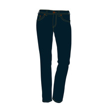 Jeans Blue Realistic Vector Illustration Isolated