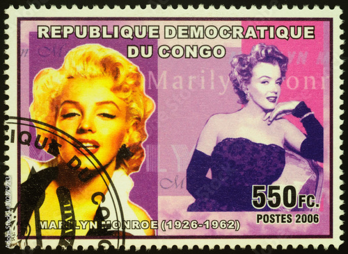 Fotografie, Tablou  Portrait of actress and singer Marilyn Monroe on postage stamp