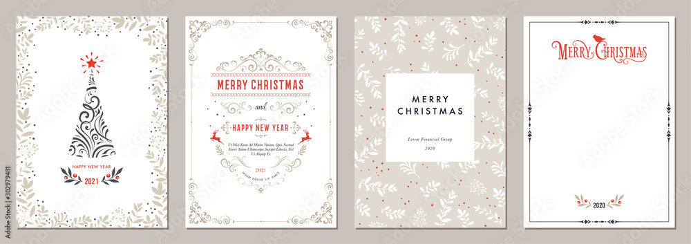 Fototapety, obrazy: Business and Corporate Holiday Cards.