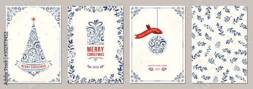 Business and Corporate Holiday Cards. Fototapete