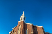Church With Classic Red Brick ...