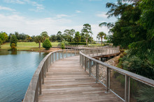 Center Lake Park Is A Public Park With A Boardwalk  In The City Of Oviedo, Florida.