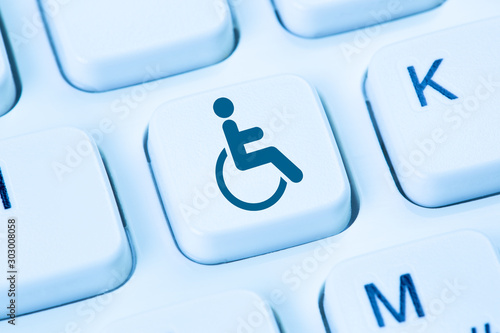 Internet web accessibility online website computer people with disabilities hand Canvas Print