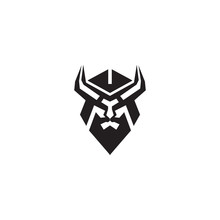Viking Helmet Icon Logo Design...