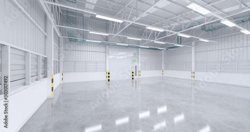 warehouse and shutter door Canvas Print