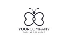 Beautiful Butterfly For Logo Design Concepts