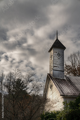 An old and abandoned country church in the North Carolina mountains.