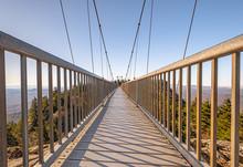 View Of Mile High Swinging Bridge, At Grandfather Mountain State Park, North Carolina.