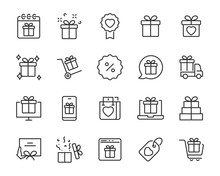 Set Of Gift Icons, Gift Box, S...