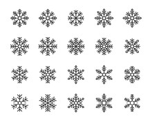 Set Of Snow Icons, Snowflake, Winter, Christmas, Ice, Cold