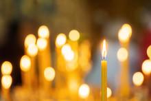 Candle Light In Christian Chur...