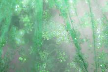 Glowing Golden Green Festive B...