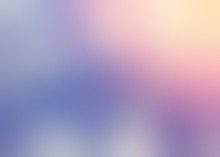 Lilac Sky Empty Background. Pink Blue Yellow Gradient Pattern. Defocused Illustration. Iridescent Blurred Texture. Shiny Abstract Backdrop.