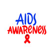 AIDS Awareness - Vector Banner with Red Ribbon - AIDS and HIV Symbol