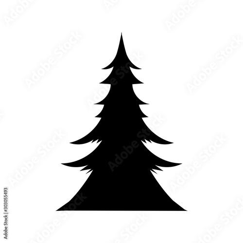 Obraz christmas pine tree decorative icon - fototapety do salonu