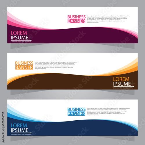 Fototapeta Vector abstract design web banner template. Web Design Elements - Header Design. Abstract geometric web banner template on grey background.Modern banner. obraz