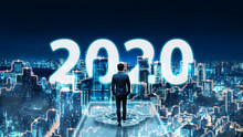 New Year 2020 Business Man On ...