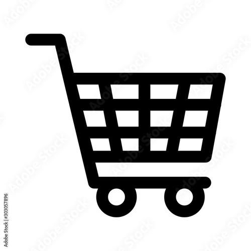 shopping cart commerce isolated icon Billede på lærred