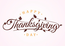 Happy Thanksgiving Day With Au...