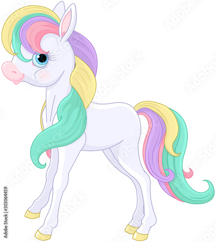 Papiers peints Magie Rainbow Pony Sitting