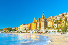 View On Old Part Of Menton, Pr...