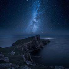 Neist Point Lighthouse At Night, Isle Of Skye, Scotland