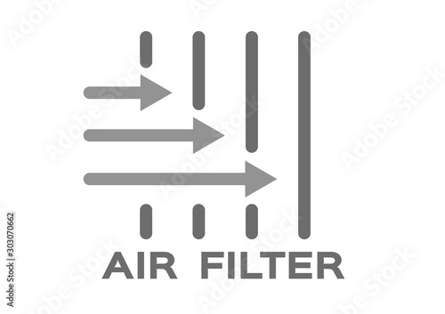 air filter with bacteria and dust vector / icon Wallpaper Mural
