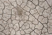 Dry Cracked Soil  By Sun Burn , Arid , Summer Thailand