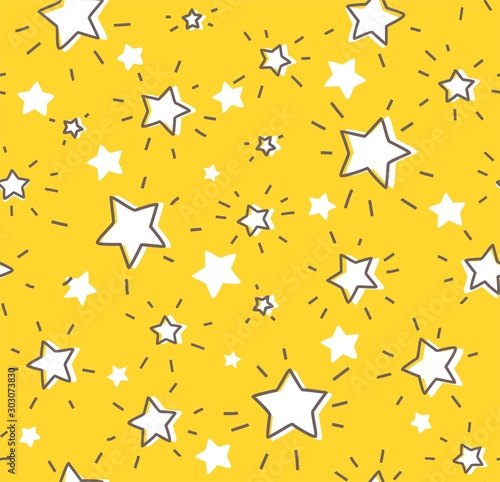 konturowe-gwiazdy-bezszwowy-koloru-zoltego-wzor-wektor-kontur-swiecace-gwiazdy-z-promieniami-na-zoltym-polu-imitacja-rysunku-odrecznego