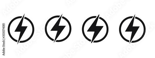 Lightning, electric power vector logo design element Fototapet