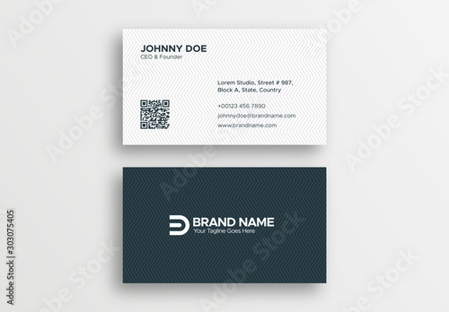 Fotomural  Corporate Professional Black and White Business Card Design Template