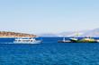 cruise ship at sea, on the island of Crete, Greece