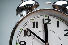 Close-up Of Vintage Alarm Clock